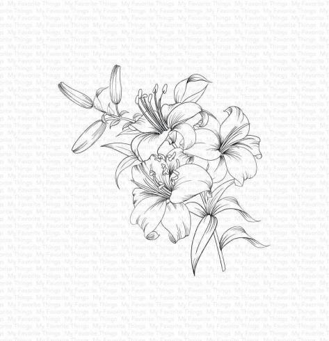 "My Favorite Things ""Lavish Lilies"" Cling Stamp"