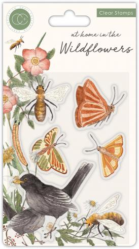 Craft Consortium At Home in the Wildflowers Clear Stamps Bienen & Schmetterlinge
