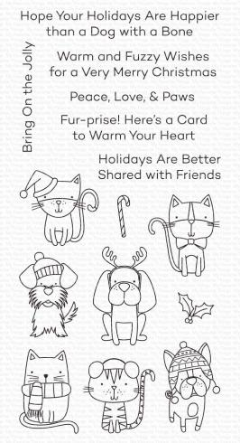 "My Favorite Things Stempelset ""Peace, Love, & Paws"" Clear Stamp Set"