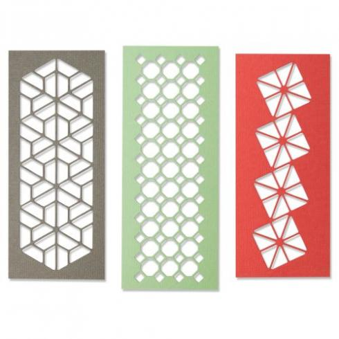 Sizzix Thinlits Craft Die-Set - Geo Trio