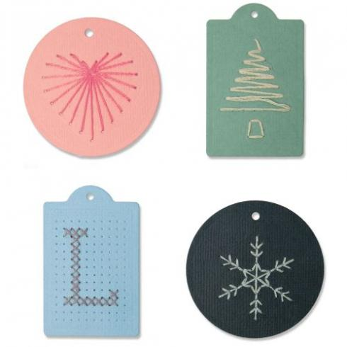 Sizzix Thinlits Craft Die-Set - Stitched Tags