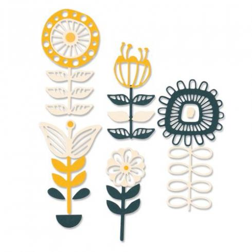 Sizzix Thinlits Craft Die-Set - Stackable Florals