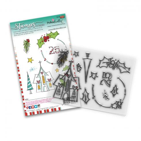 "Polkadoodles Stempel ""Holly Blessings"" Clear Stamp-Set"