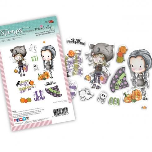"Polkadoodles Stempel ""Happy Halloween"" Clear Stamp-Set"