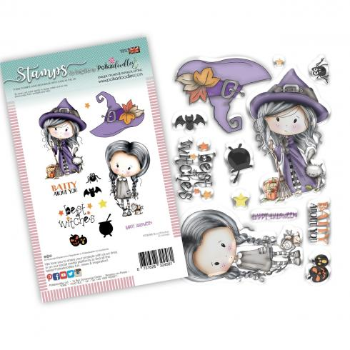 "Polkadoodles Stempel ""Best Witches"" Clear Stamp-Set"