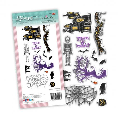 "Polkadoodles Stempel ""Spooky Time"" Clear Stamp-Set"