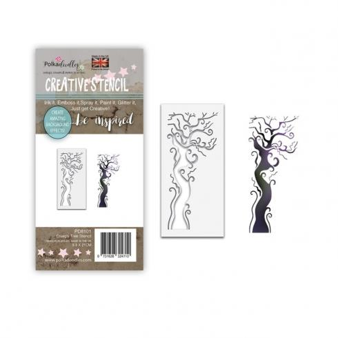 Polkadoodles Stencil Creepy Tree - Schablone  (PD8101)