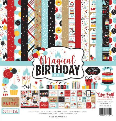 "Echo Park ""Magical Birthday Boy"" 12x12"" Collection Kit"