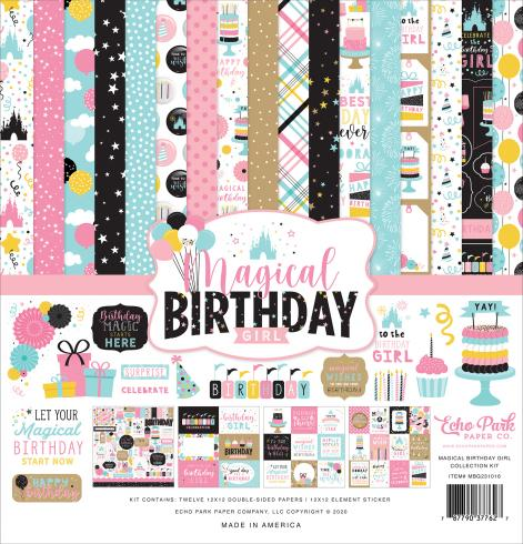 "Echo Park ""Magical Birthday Girl"" 12x12"" Collection Kit"