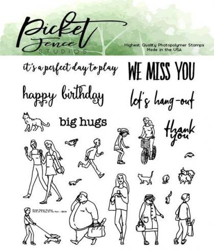 Picket Fence Studios More for A Walk in the Park 4x4 Inch Clear Stamps