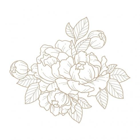 Spellbinders Hotfoil Plate - Glimmering Peony Glimmer