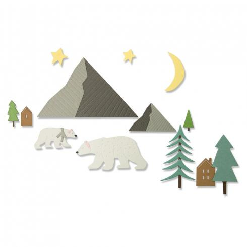 Sizzix Thinlits Craft Die-Set -  Arctic Bear by Emily Tootle