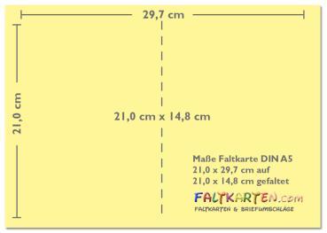 Faltkarte Mit Briefumschlag Din A5 In Orange
