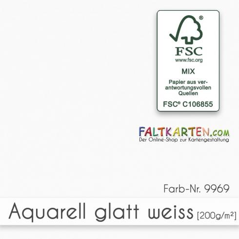 Aquarellpapier gatt 200g/m² DIN A4 in weiss