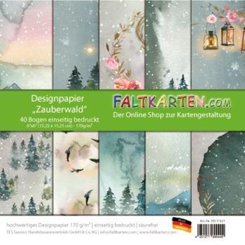 Faltkarten Designpapier Zauberwald