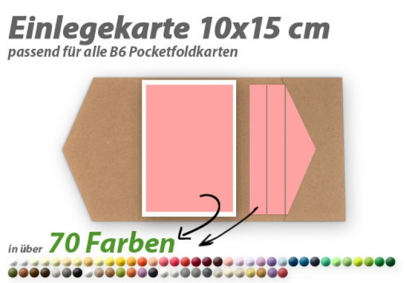 gelb 25 farbige blanko Faltkarten Klappkarten 12x17 cm