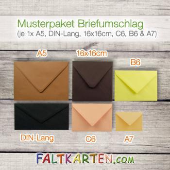 Musterpaket Briefumschlag Je 1x A6 B6 Din Lang 15x15cm Und A5