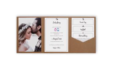 1943f222924ff Pocketfold-Karten für Einladungen zur Hochzeit in über 70 Farben