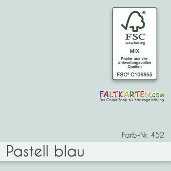 Cardstock - Bastelpapier 240g/m² DIN A4 in pastell-blau