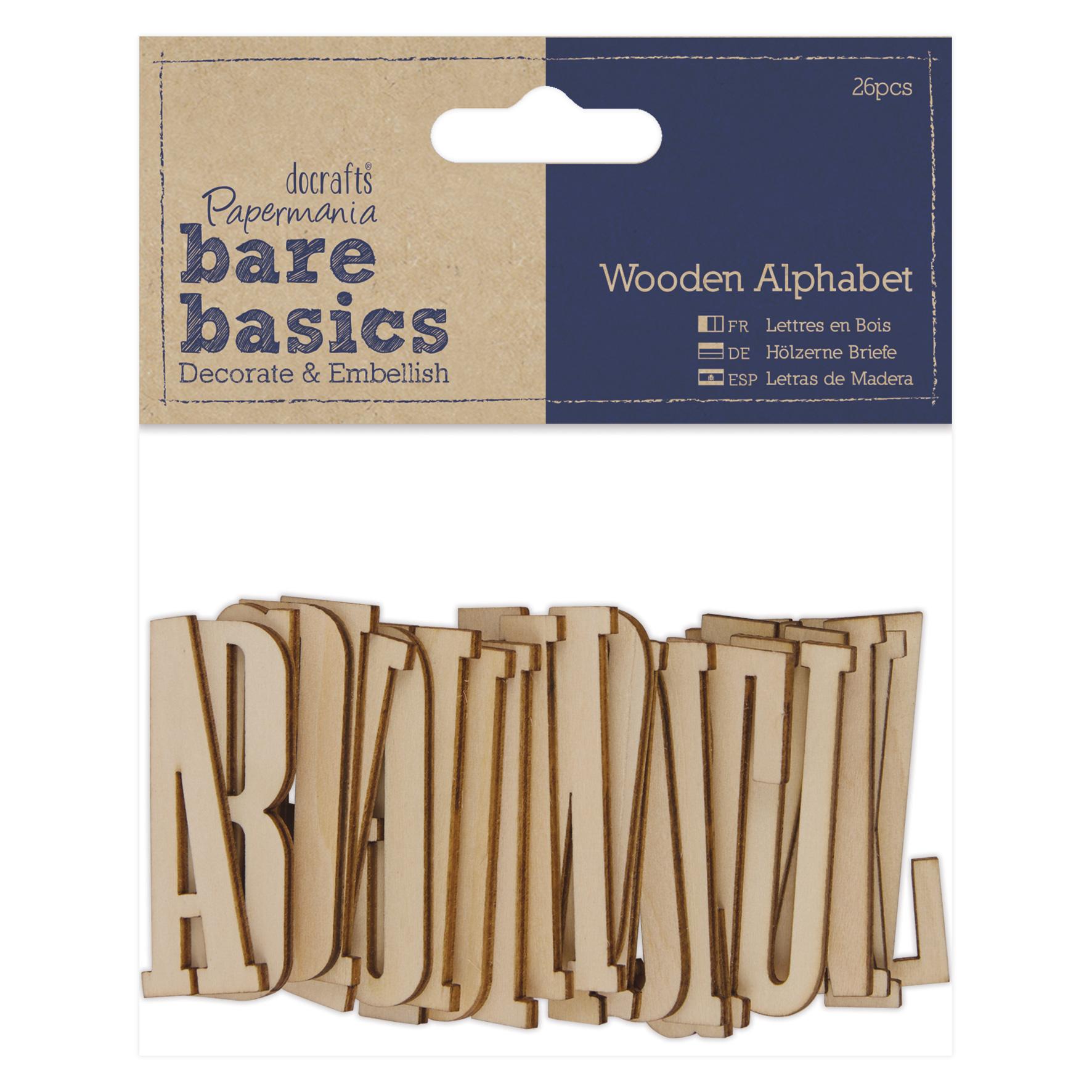 papermania alphabet buchstaben aus holz 5cm 26stk. Black Bedroom Furniture Sets. Home Design Ideas