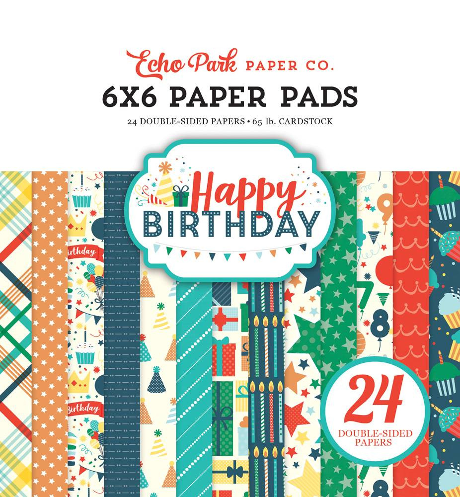 Echo Park Happy Birthday Boy 6x6 Paper Pad