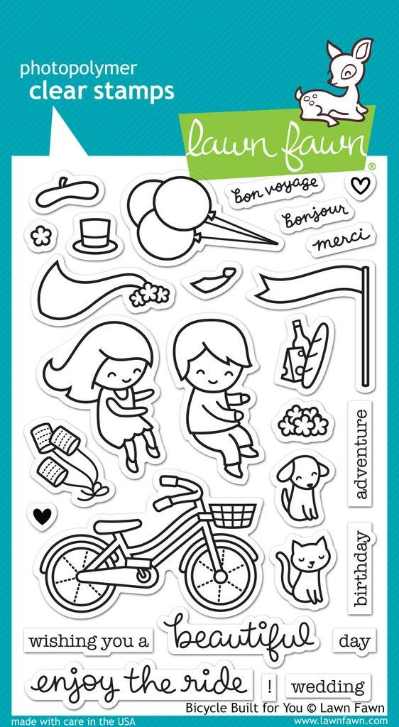 Lawn Fawn Stempelset Bicycle Built For You Clear Stamp