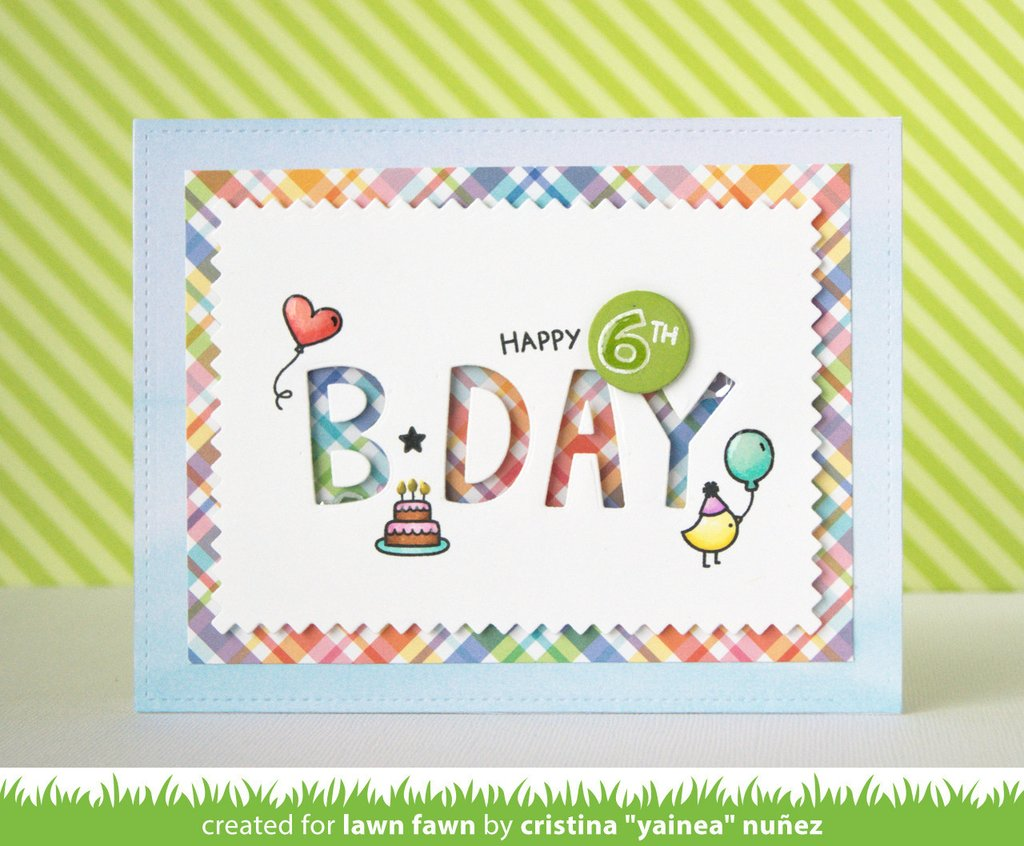 Lawn Fawn Stempelset Quot Plan On It Birthday Quot Clear Stamp