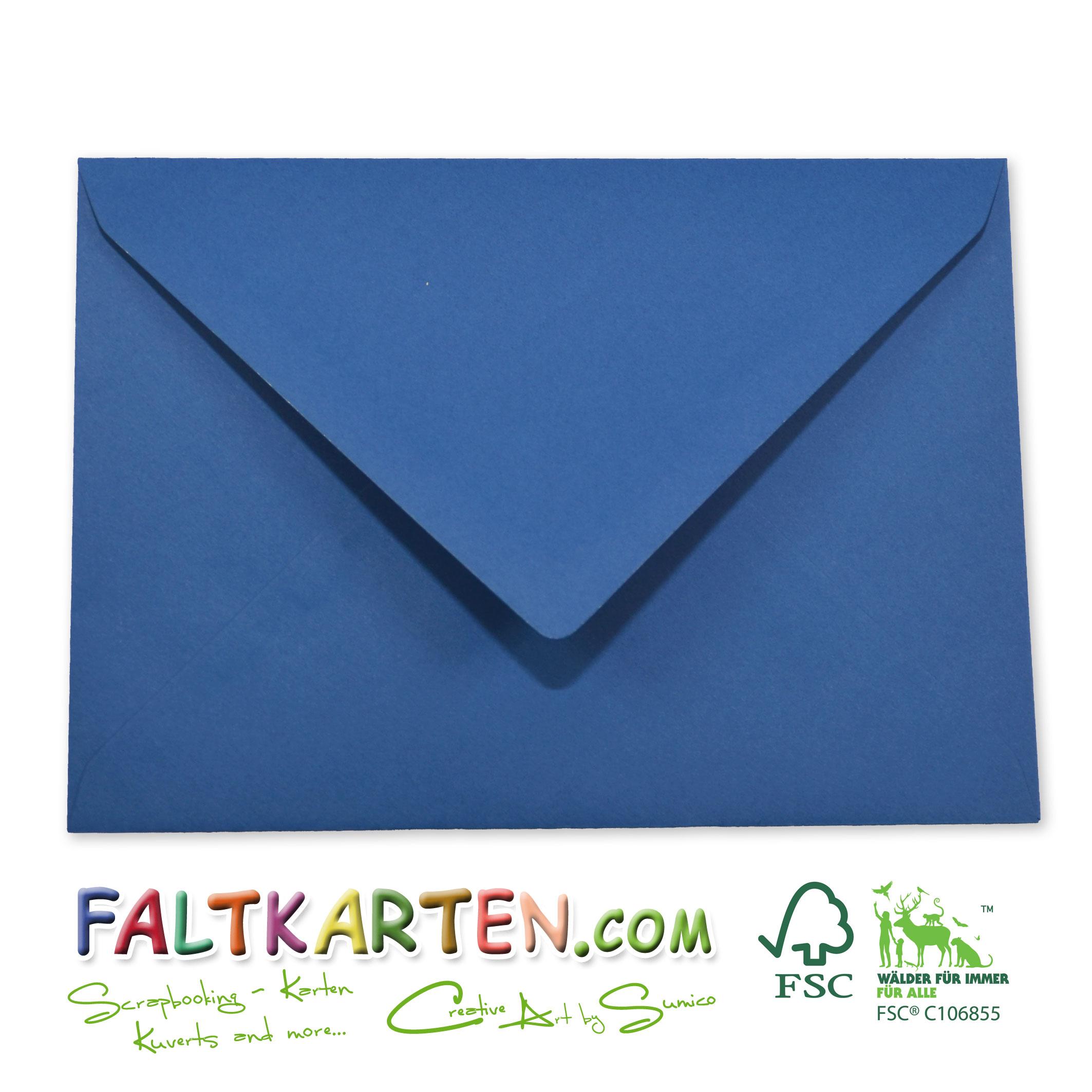 Briefumschlag Briefhülle In Blau Din C6 120gm² Of Nassklebung