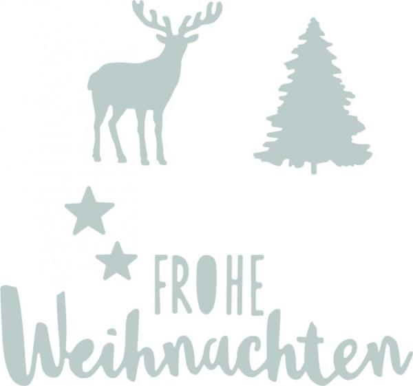 Sizzix Thinlits Craft Die-Set - Frohe Weihnachten (Merry Christmas ...