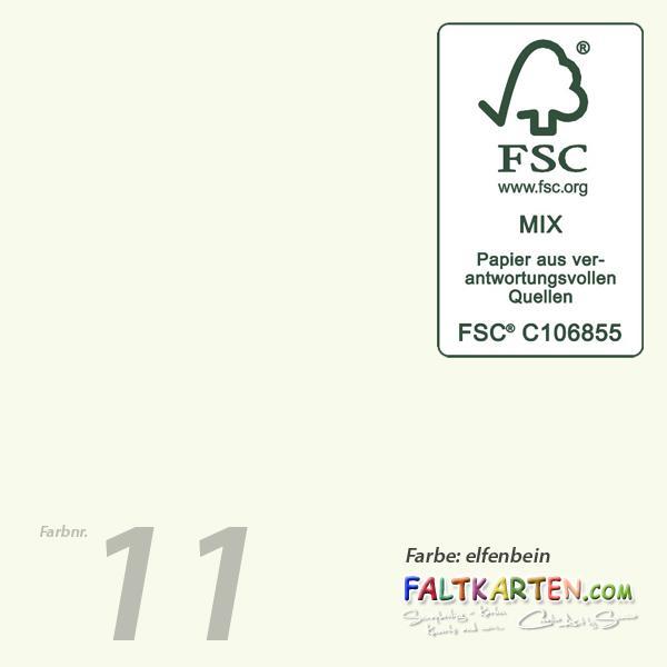 Faltkarte Din A6 Mit Briefumschlag Din C6 In Elfenbein